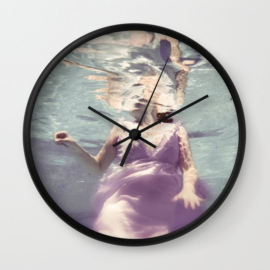 Dive in Violet Wall Clock