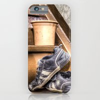 iPhone & iPod Case featuring Old children's shoes on a stairway by pASob
