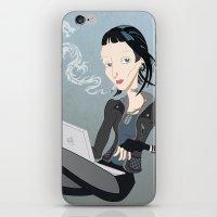 Lisbeth Dragon Smoke iPhone & iPod Skin