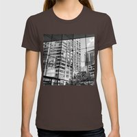 Lincoln Center Womens Fitted Tee Brown SMALL