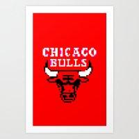 Bulls Bulls Bulls Art Print