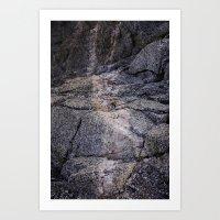 desert rocks Art Print