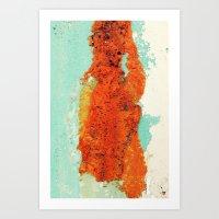 Grunge Abstract No.2 Art Print