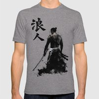 Ronin Mens Fitted Tee Tri-Grey SMALL