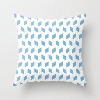Rhombus Bomb In Dusk Blu… Throw Pillow