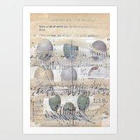 Ascension Through Clouds Art Print