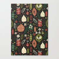Holiday Ornaments  Canvas Print