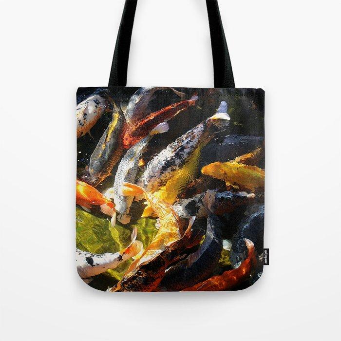 Koi fish abstract tote bag by arts and herbs society6 for Koi fish purse