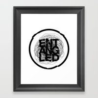 Entangled Logo Framed Art Print