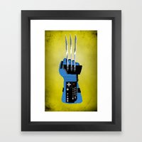 Power Glove Love: Wolver… Framed Art Print