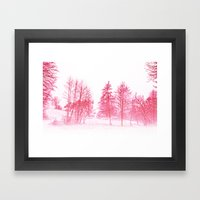 Pink Winter Framed Art Print