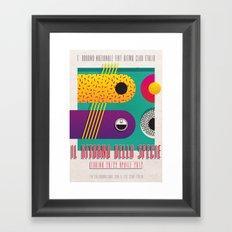 Manifesto Fiat Ritmo (Fiat Strada) Club Italia Framed Art Print