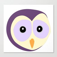Owl Indigo Canvas Print