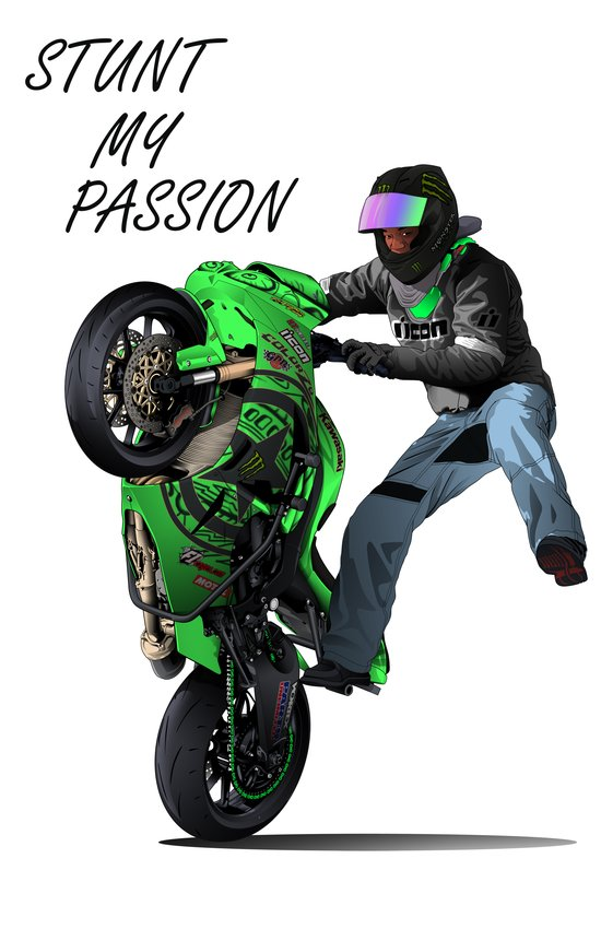Stunt My Passion Art Print