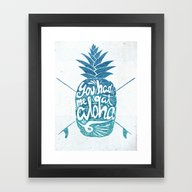 Framed Art Print featuring You Had Me At Aloha! by Ocean Ave // Letteri…