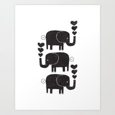 ELEPHANTS Art Print