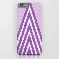 iPhone Cases featuring Geometric Diamond Pattern in Purple by Bakmann Art