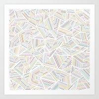 Abstraction Linear Rainbow Art Print