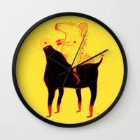 Yellow Rider Wall Clock