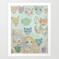 The Cat Lady Art Print