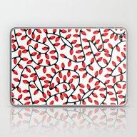 Red Christmas Lights Laptop & iPad Skin