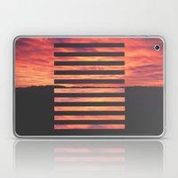 Black Strips Laptop & iPad Skin