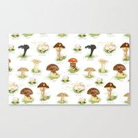 Edible Mushrooms Canvas Print