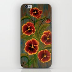 Pansies-2 iPhone & iPod Skin