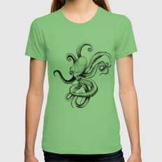 Octopus Womens Fitted Tee Grass SMALL