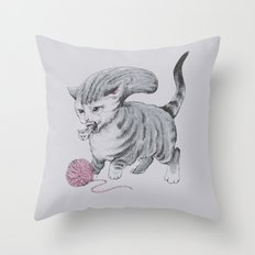 Kittehmorph Throw Pillow