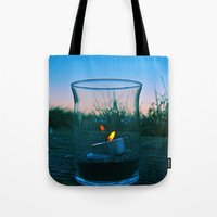 Seaside flame Tote Bag