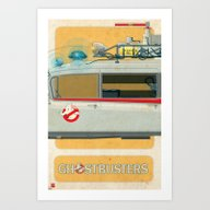 Ecto-1 From Ghostbusters… Art Print