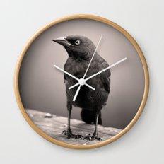 Goth Grackle Wall Clock