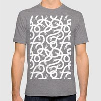 Hands Hands Hands Mens Fitted Tee Tri-Grey SMALL