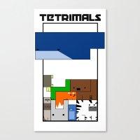 Tetrimals Canvas Print