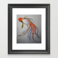 Goldfish Pond (close up #10) Framed Art Print