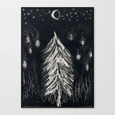 Midnight In A  Burning Forest Canvas Print