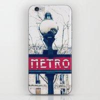 Paris Metro Sign iPhone & iPod Skin