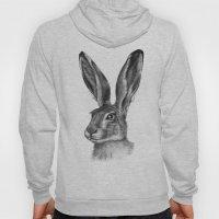 Cute Hare portrait G126 Hoody