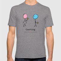 COURTING by ISHISHA PROJECT Mens Fitted Tee Tri-Grey SMALL