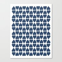 Diamond Hearts Repeat Na… Canvas Print