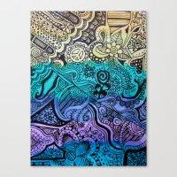 Watercolor Doodle Canvas Print