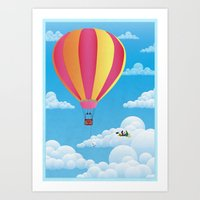 Picnic In A Balloon On A… Art Print