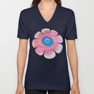 Artistic Fantasy Flower Unisex V-Neck