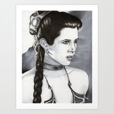 Slave Leia Art Print