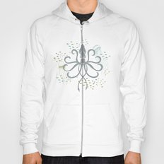 Ghostly Squid Damask Hoody