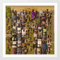 Super Walking Dead: High… Art Print