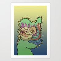 Autoportrait as a reptile Art Print
