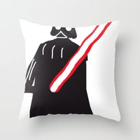 you are drawing vader Throw Pillow