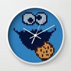 monster 'nom nom' knit Wall Clock